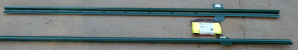 Metal stakes and poly cord