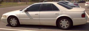 Cadillac STS 1999 (complete with hail damage!)